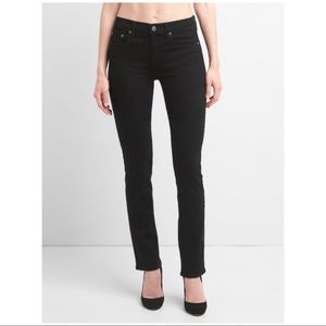 Gap black real straight cotton jeans
